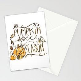 It's Pumpkin Spice Season Illustration Stationery Cards