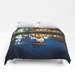 Night in the town Comforters