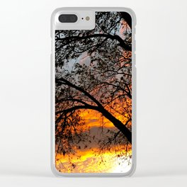 Fire in the Sky 3.0 Clear iPhone Case