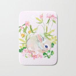 springtime bunny Bath Mat