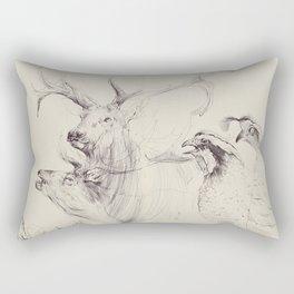 Elk & Quail Rectangular Pillow