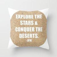 jfk Throw Pillows featuring JFK by American Sins
