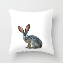 Bad hare day Throw Pillow