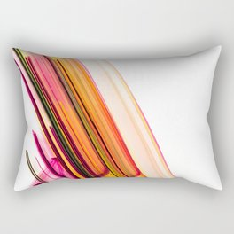 Fast Forward Abstract Artwork Rectangular Pillow