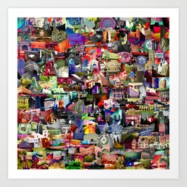 Texas small collage Art Print