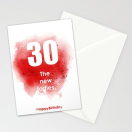 AgeIsJustANumber-30-StrawberryPopA Stationery Cards