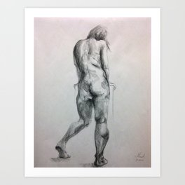 Life figure drawing Art Print