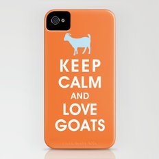 Keep Calm and Love Goats iPhone (4, 4s) Slim Case
