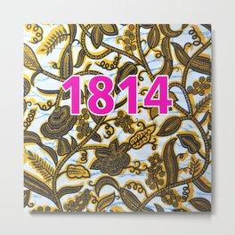 1814 pink Metal Print