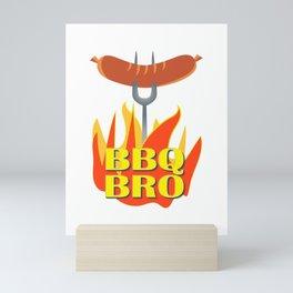 BBQ Bro Your Grill Party Bestie Mini Art Print