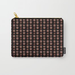Loose Lips (on Designer Black Background) Carry-All Pouch