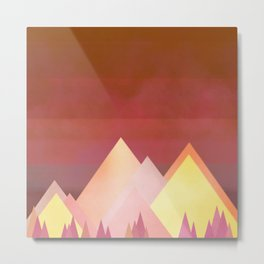 Fiery Mountains Metal Print