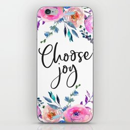 Choose Joy, Nursery Wall Art, Inspirational Quotes, Typography Print, Typography Wall Art iPhone Skin