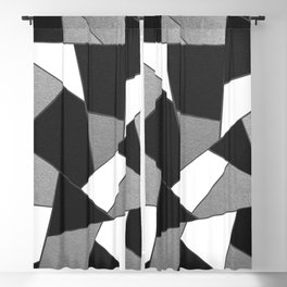 Silver Gray Black White Geometric Glam #1 #geo #decor #art #society6 Blackout Curtain