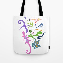 My pieces of invisible worlds Tote Bag
