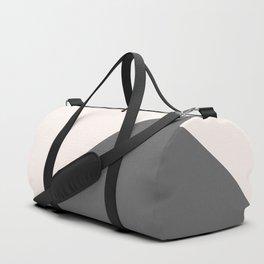 Minimalist blush pink grey color block geometric Duffle Bag