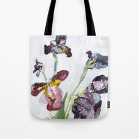 german Tote Bags featuring German Iris by Shinichi Imanaka