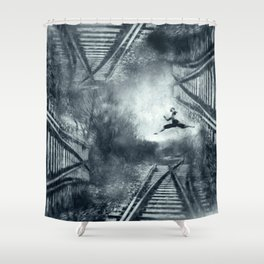 escape routes Shower Curtain
