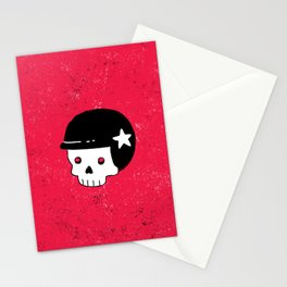 skull dude Stationery Cards