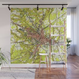 Vintage Map of Fayetteville North Carolina (1948) Wall Mural