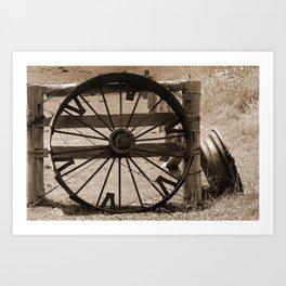 Wheels of Time - Sepia Art Print
