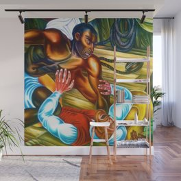 """African American Classical Masterpiece """"Capture African Slave Amistad Revolt"""" by Hale Woodruff Wall Mural"""