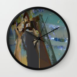 landscape collage #14 Wall Clock