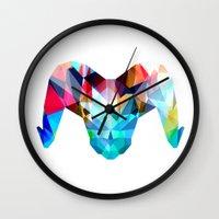 ram Wall Clocks featuring Ram by haroulita