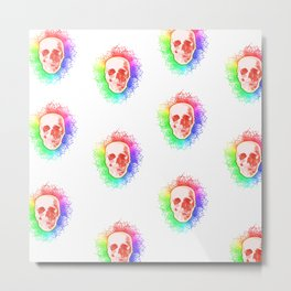 Skulls Rainbow Colorful life Metal Print
