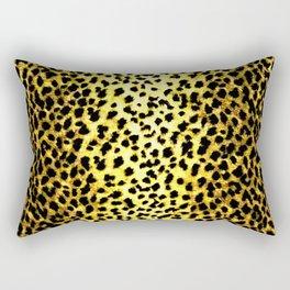 Leopard Print Animal Wallpaper Rectangular Pillow