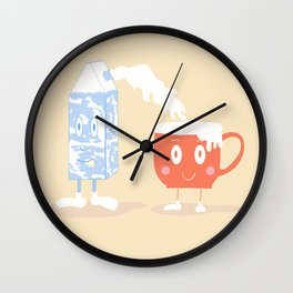 Milky Couple Wall Clock