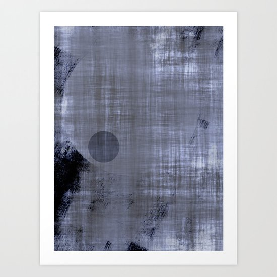Black 'n White & Blue ~ Abstract Art Print