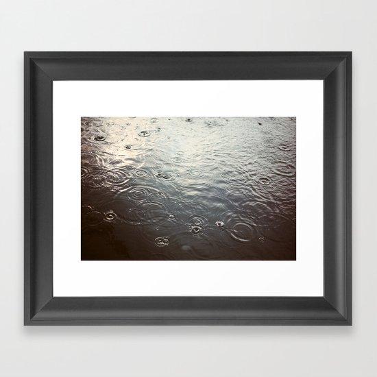 Raindrop #1 Framed Art Print