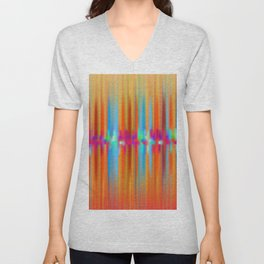 Seismic Shift Fiery Clouds Unisex V-Neck