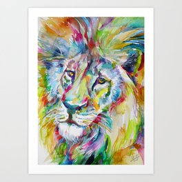 LION FACE Art Print