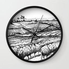 Vineyards of Piedmont Wall Clock