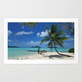 Bora Bora Palm Tree Art Print