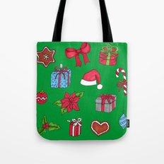 Christmas pattern (#1 green) Tote Bag
