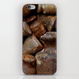 Very old and rusty weights for scales iPhone Skin