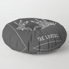 Minimal Tarot Deck The Lovers Floor Pillow