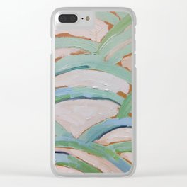 Brush Stokes Leaves Clear iPhone Case