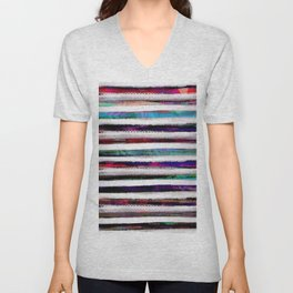 colorful pattern Unisex V-Neck