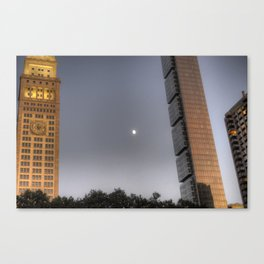 Flatiron Moon Canvas Print