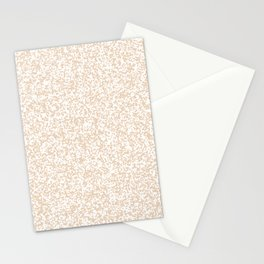 Tiny Spots - White and Pastel Brown Stationery Cards