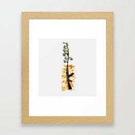 Roses & Guns Framed Art Print