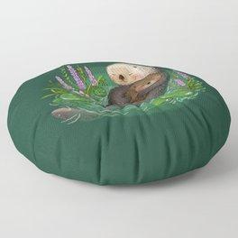 Sea Otter Mother & Baby Floor Pillow