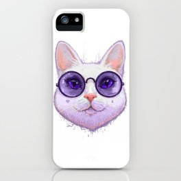 Cat in glasses iPhone Case