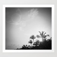 Tropical Sunset at the Beach III Art Print