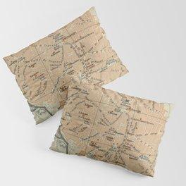 Vintage Jerez Spain Map (1913) Pillow Sham