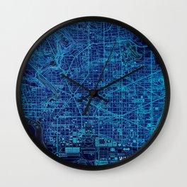 15-Washington West Columbia 1945, old vintage blue map Wall Clock